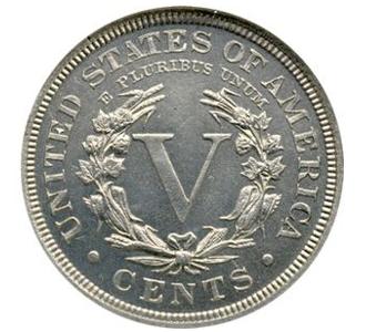 droga moneta tył 1913 Eliasberg Liberty Head Nickel